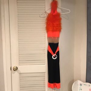 Other - Bright Orange Feather Mesh Jumper Costume